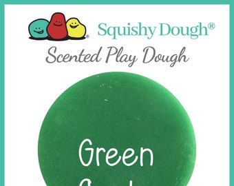 Green Apple Scented Play Dough - Homemade Play Dough - Green Putty - Squishy Dough