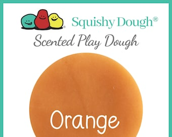 Orange Scented Play Dough - Homemade Play Dough - Orange Putty - Squishy Dough