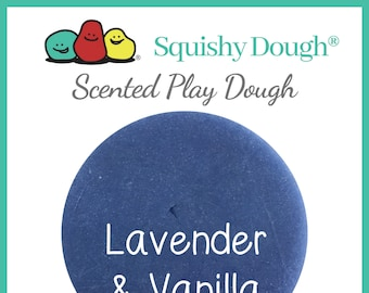 Purple Lavender Vanilla Scented Play Dough - Homemade Play Dough - Essential Oil Play Dough - Squishy Dough