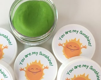 You Are My Sunshine Birthday Party Favors - Play Dough - Sensory Play - Waldorf Toys - Toddler Activities