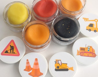 Construction Party Favor Play Doughs - Construction Theme Party Favors - Construction Party - Birthday Party Play dough – Squishy Dough
