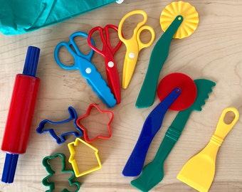 Large Play Dough Tool Set - Play Dough Tools - Tool Set - Kids Tools - Putty Tools - Art Tools - School Tools - Fine Motor Skill Development