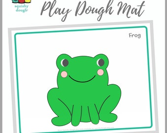 Frog Play Dough Mat Download - Squishy Dough Play Mat - Instant Download