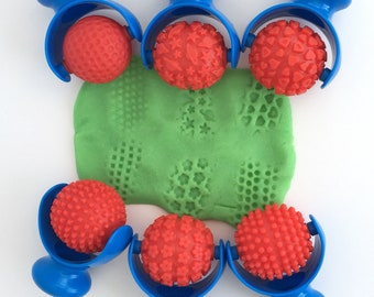 Patterned Palm Roller - Choice of Pattern - Galaxy - Flowers - Hearts - Indentations - Spikes - Spikes II - Play Dough Tool