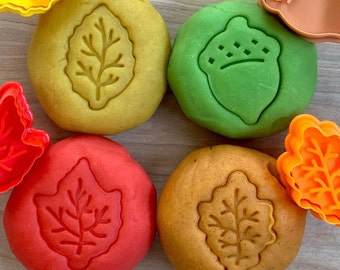 Fall Play Dough Pack - Pumpkin Pie - Caramel Apple - Spiced Vanilla - Immunity Booster - Fall Activity - Aromatherapy Toy - Sensory Toy