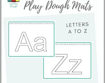 Alphabet Play Dough Mat Download - Squishy Dough Play Mat - Instant Download
