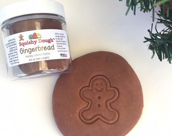 Gingerbread Scented Play Dough - Stocking Stuffer - Holiday Playdough - Christmas Sensory Play - Kids Activity - Gingerbread Squishy Dough
