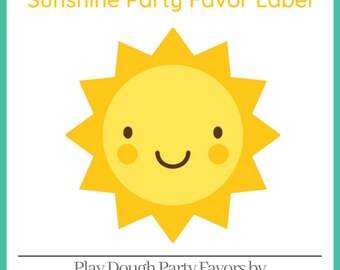 Play Dough Sunshine Party Favors - Homemade Scented Play Dough with Sunshine Labels - Summer Party - Kids Party Favors - Squishy Dough