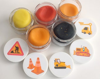 40 Construction Party Favor Play Doughs - Construction Theme Party Favors - Construction Party - Birthday Party Play dough – Squishy Dough