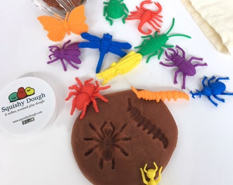 Bug Dig Activity for Kids with Play Dough - Mud and Bugs Kit - Kids Nature Activity - Scented Playdough - Play Dough - Bug Bash - Squishy