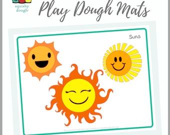 Sun Play Dough Mat Download - Squishy Dough Play Mat - Instant Download - Summer