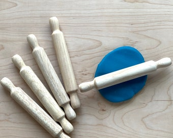 Wood Rolling Pin for Kids – Play Dough Rolling Pin - Wooden Play Dough Roller - Wooden Play Dough Tools - Montessori - Waldorf Toys