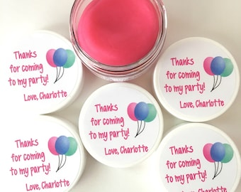 5 Balloon Party Favor Doughs - Birthday Balloon Party Favors - Birthday Balloons - Play Doh Party Favors - Squishy Dough Party Favors