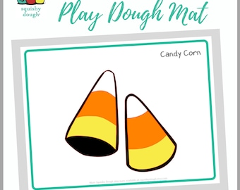 Candy Corn Play Dough Mat Download - Squishy Dough Play Mat - Instant Download