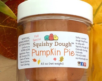 Pumpkin Pie Play Dough - Pumpkin Spice Dough - Natural Play Dough - Fall Kids Activity - Fall Play Dough - Aromatherapy Toys - Sensory Toy