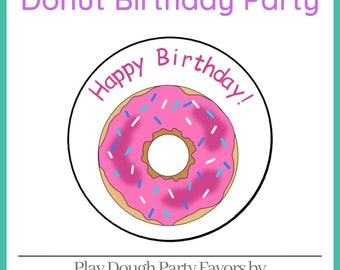 Play Dough Donut Party Favors - Homemade Scented Play Dough with Donut Labels - Donut Party - Kids Party Favors - Squishy Dough