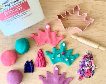 Princess Play Dough Kit - Scented Dough - Princess Crayons - Tiara - Princess Gift - Play Dough Gift Set