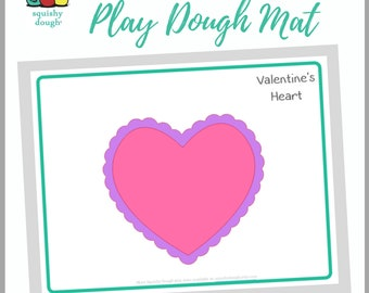 Valentine's Play Dough Mat Download - Squishy Dough Play Mat - Instant Download