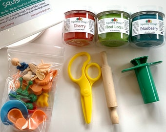 Mr Squishy Head Play Dough Kit - Scented Play doh - Squishy Dough - Busy Bucket - Mr Potato Head for Play Dough