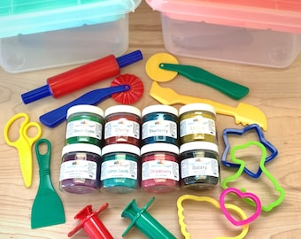 Deluxe Play Dough Kit with Scented Playdough and Durable Tools - Jumbo Playdough Kit - Playdough Starter Set - Squishy Dough