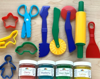 Play Dough Kit with 4 Scented Doughs - Scented Playdough - Toys for Toddlers  - Sensory Play - Gifts for Kids - Montessori - Squishy Dough