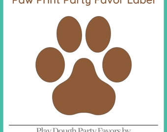 Play Dough Puppy Paw Print Party Favors - Homemade Scented Play Dough with Paw Print Labels - Puppy Party - Kid Party Favors - Squishy Dough
