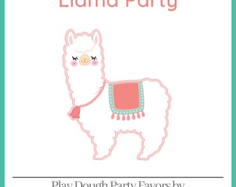 Play Dough Llama Party Favors - Homemade Scented Play Dough with Llama Labels - Llama Party - Kids Party Favors - Squishy Dough
