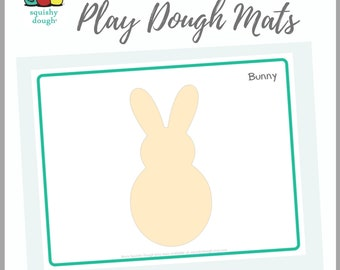 Bunny Play Dough Mat Download - Squishy Dough Play Mat - Instant Download - Easter