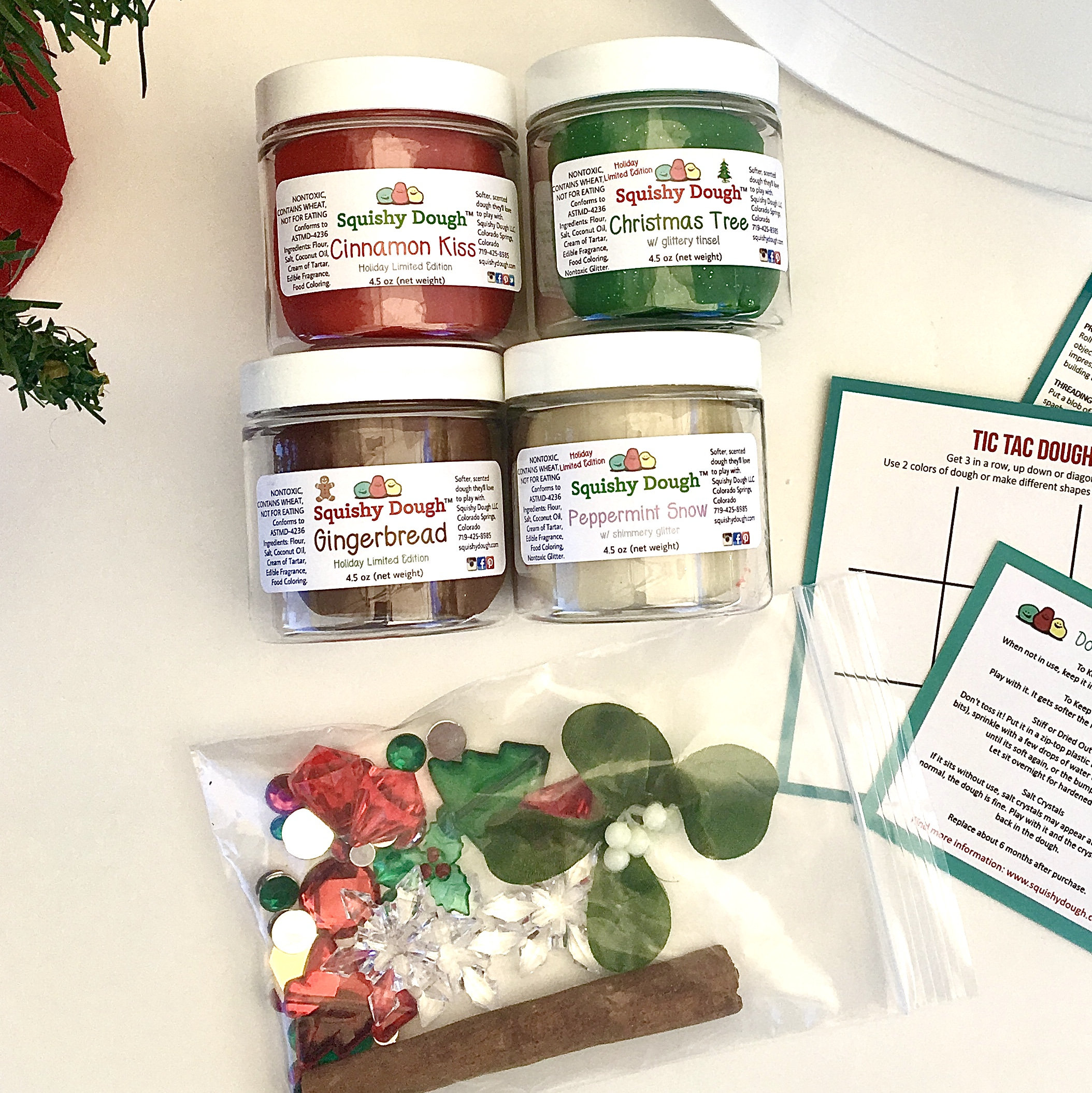 Christmas Play Dough Activity Kit Scented Play Dough Holiday Play Dough Kit Christmas Craft Preschool Toys Squishy Dough