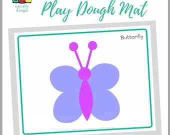 Butterfly Play Dough Mat Download - Squishy Dough Play Mat - Instant Download