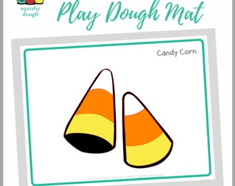 Candy Corn Play Dough Mat Download - Squishy Dough Play Mat - Instant Download