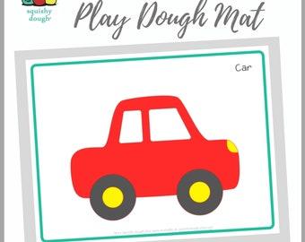 Car Play Dough Mat Download - Squishy Dough Play Mat - Instant Download