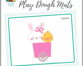 Easter Play Dough Mat Download - Squishy Dough Play Mat - Instant Download - Easter