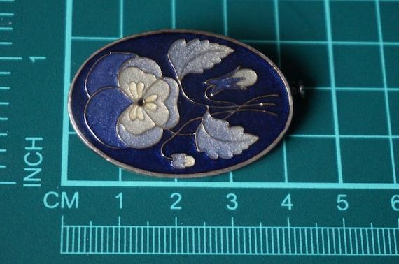 Vintage Exceptional circa 1910 Silver and Blue En… - image 6