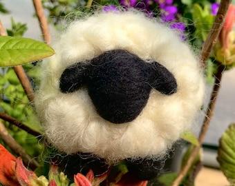 FULL KIT! Easy Beginner Needle Felt Wooly White Lamb Tutorial/Pattern - All Levels Needle Felting