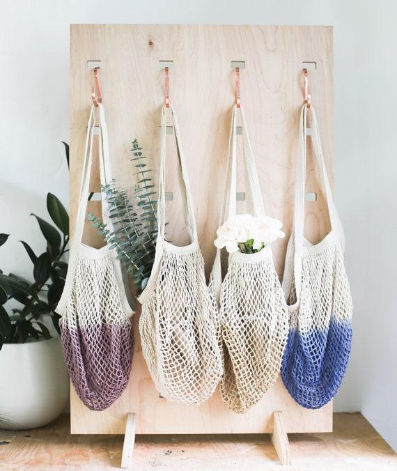 ea48c95898c0 Net Bag Crochet Tote Bag Bag for Produce Mesh Bag Reusable