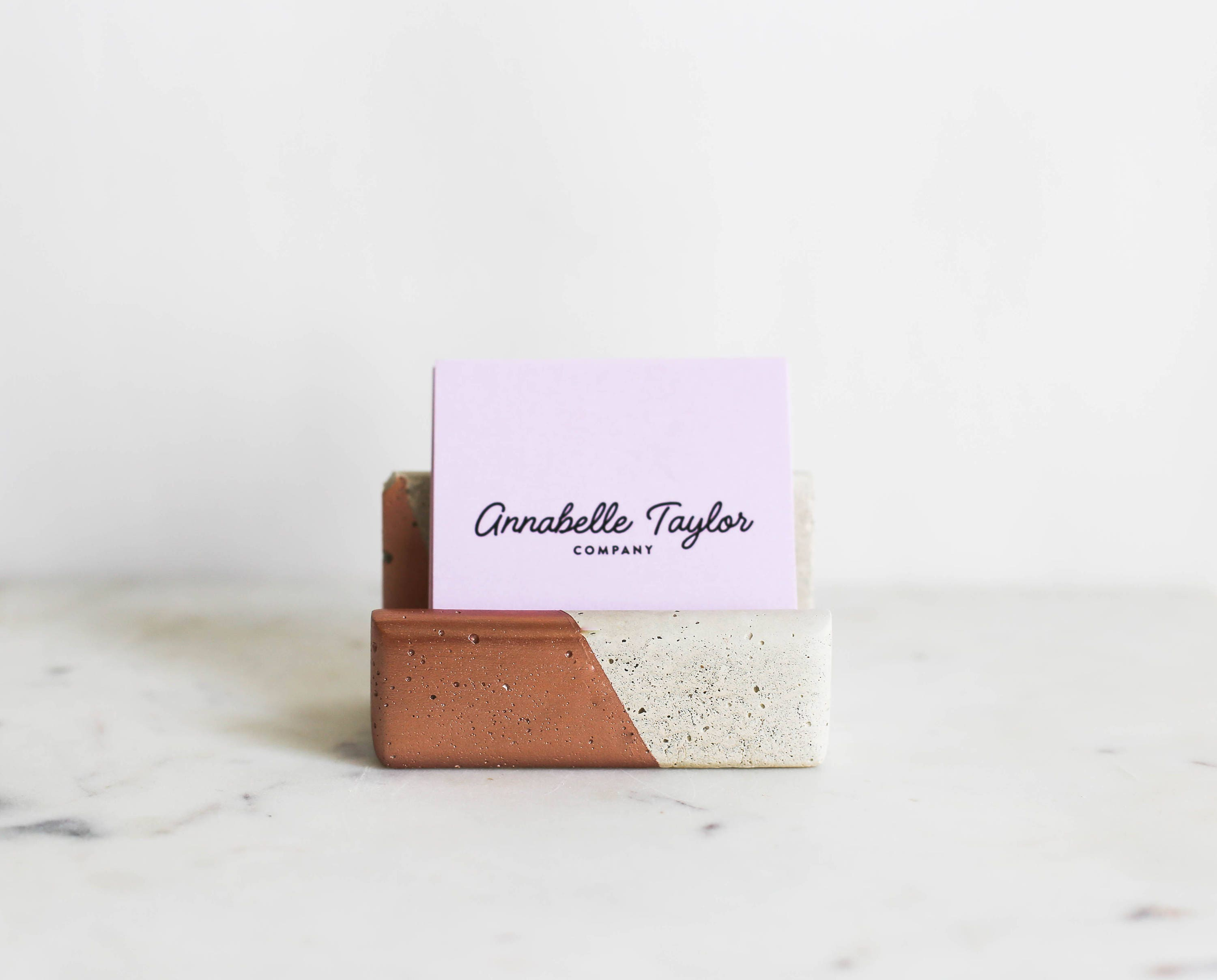 Business Card Holder ROSE GOLD Business Card Stand Office