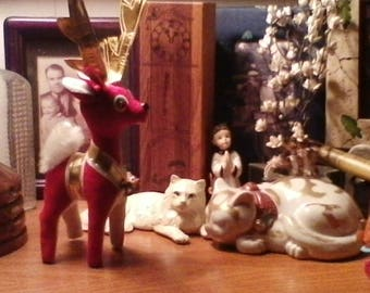 Antique Velveteen Reindeer