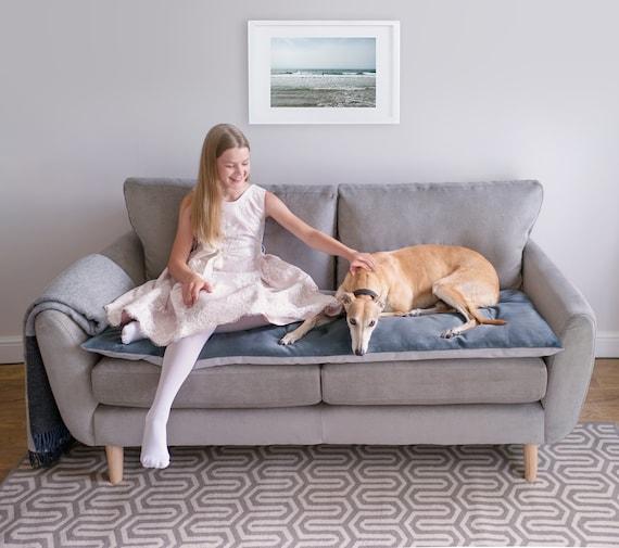 Pet Furniture Protector In Slate Velvet, Pet Furniture Cover
