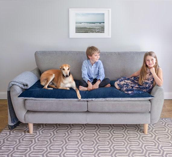 Pet Furniture Protector In Ink Velvet, Pet Furniture Cover