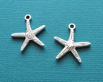 3 Starfish  Charms Antique Silver  Charms 1I-37