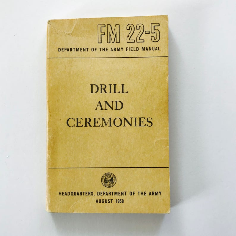 Dept of the Army Drill Manual
