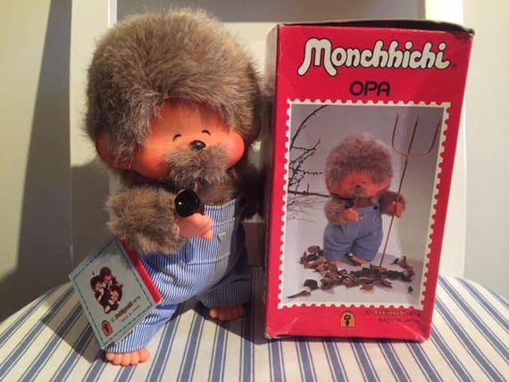 Vintage Sekiguchi OPA Grandpa of MONCHICHI MONCHHICHI,Original Japan toy from 1974,Authentic pipe,vintage collectible,first labbel