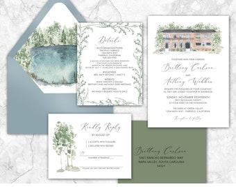 Custom Wedding Venue Illustration Board Bespoke Venue Drawing Illustration\ufe31 Wedding Welcome Board\ufe31 Personalised Custom Wedding Venue Board