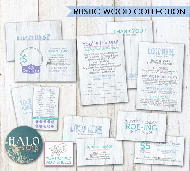 Fashion Consultant Llr Business Cards Llr Digital Rustic Wood