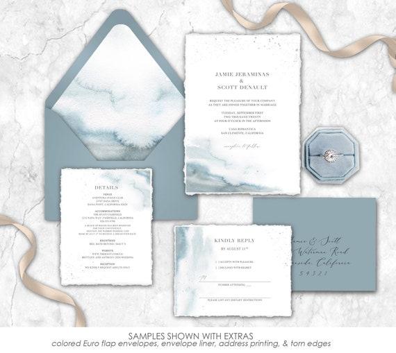 blue wedding slate blue dusty blue wedding invite ANY COLOR Dusty Blue Wedding Invitations navy wedding steel blue wedding