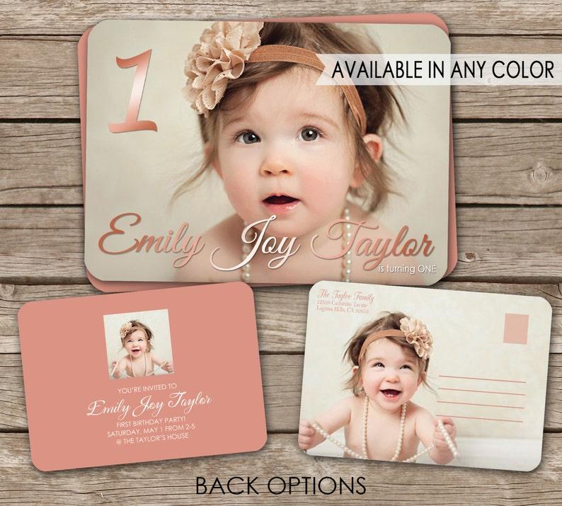 Printed or Digital Birth Announcement OR Birthday Invitation postcard postcard option