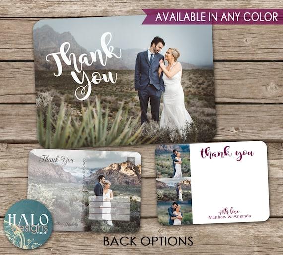 Wedding Thank You Cards Postcard Printable Card Etsy