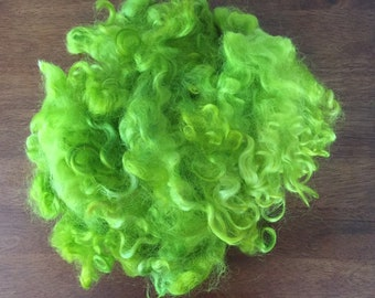 Doll Hair Weaving Curly Hand Dyed Sheep Wool Locks for Spinning Rug Hooking Felting