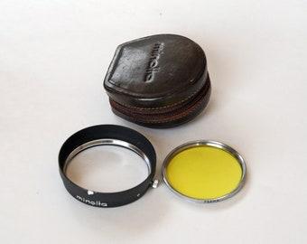 Minolta D57KE Lens Hood with 55mm Yellow Filter